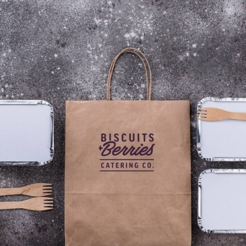 Brown logo'd Bag with To Go Containers